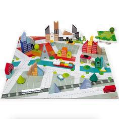 Janod 60 block City Set + puzzle