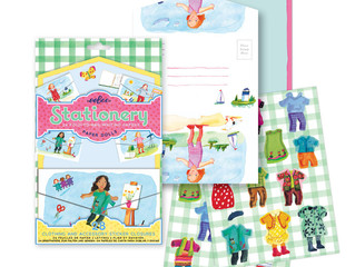 eeBoo Paper Doll Fold-to-Mail Stationery Set
