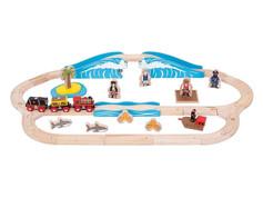 Bigjigs Rail Pirate Train Set