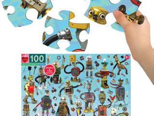 eeBoo Upcycled Robots, 100 Piece Puzzle