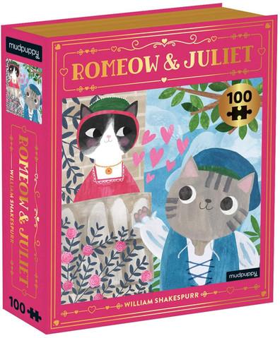 Mudpuppy Romeow  & Juliet 100 Piece Puzzle