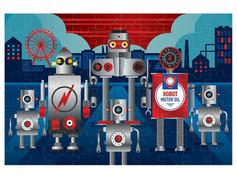 Mudpuppy Foil Puzzle — Robotics