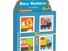 Petit Collage Mini Library, Busy Builders