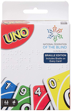 Mattel Uno Tin and Uno Braille