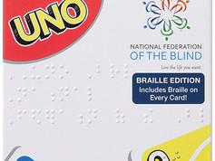 Mattel Uno Tin and Uno Braille