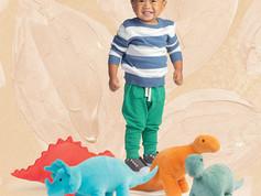 Manhattan Toy Velveteen Dino Spike Triceratops & Gummy Stegosaurus & Stomper Brontosaurus