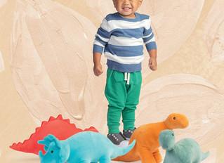 Manhattan Toy Velveteen Dino Spike Triceratops & Gummy Stegosaurus & Stomper Brontosaurus &a