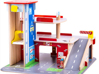 Bigjigs Toys Park & Play Garage
