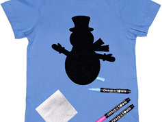 Chalk of the Town Snowman Tee Shirt