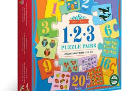 eeBoo 1-2-3 Puzzle Pairs