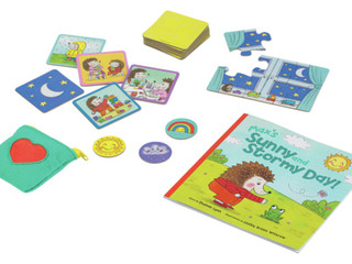 Peaceable Kingdom Sunny and Stormy Day Book & Game