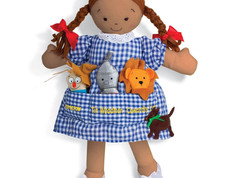 North American Bear Dolly Pockets doll and finger puppets