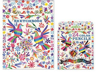 eeBoo 24 Color Pencil Sets & Sketch Books
