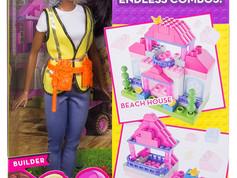 Mattel Barbie Builder Doll + 50 Building pieces