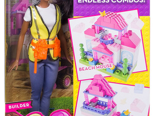 Mattel Barbie Builder Doll + 50 Building pieces