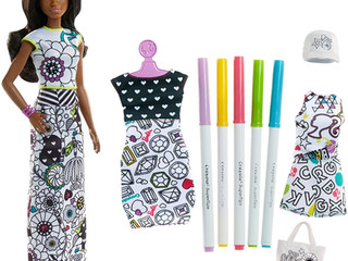 Barbie Color In Fashion Set