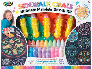 Poof Sidewalk Chalk Ultimate Mandala Stencil Kit