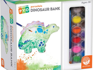 Mindware Paint Your Own Dinosaur Bank