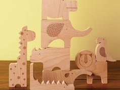 Petit Collage Safari Jumble Wooden Puzzle + Play