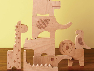 Petit Collage Safari Jumble Wooden Puzzle + Play