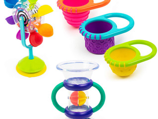 Sassy Whirling Wheel Waterfall, Double Dip Funnel & Flex N Fill Cups Set