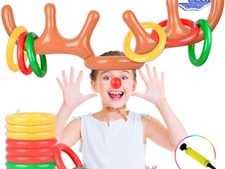 2 Set Inflatable Reindeer Antler Game