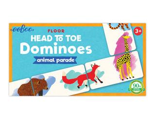 eeBoo Animal Parade Head to Toe Dominoes