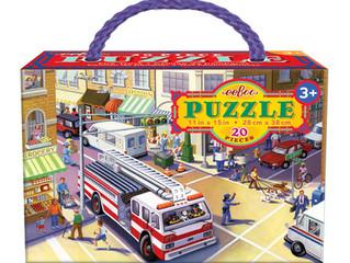 eeBoo 20 Piece Firetruck Puzzle