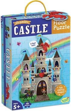 Peaceable Kingdom Shimmery Castle Floor Puzzle