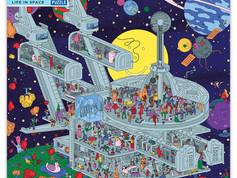 eeBoo 1000-piece Puzzles: Life in Space, Mother Earth, and Viva La Vida