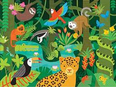 Petit Collage Wild Rainforest 24-piece Floor Puzzle