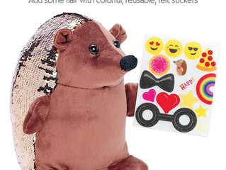 Creativity for Kids Sequin Pets, Happy the Hedgehog