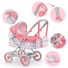 Corolle - Mon Grand Poupon Carriage Stroller with Adjustable Handle, Folding Design Design