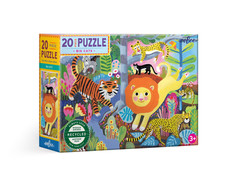 eeBoo Big Cats 20-Piece Puzzle