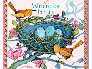 eeBoo Melissa Sweet 24 Watercolor Pencil Tin