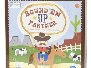 C. R. Gibson Round 'Em Up Partner Board Game