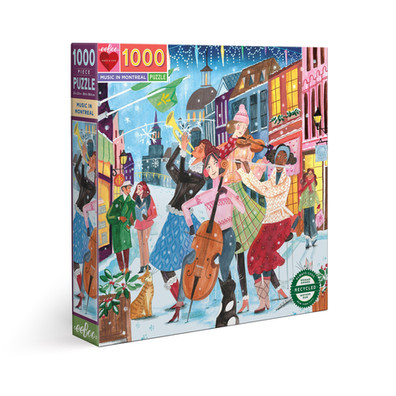 eeBoo Music in Montreal 1000-Piece Puzzle and More