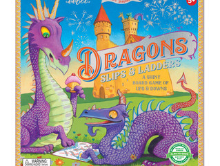 eeBoo Dragons Slips and Ladders