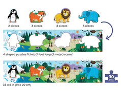 Mudpuppy My Very Long Puzzles, Animals of the World