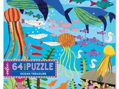 eeBoo 64-piece puzzle Ocean Treasure
