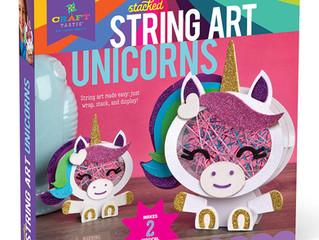 Craft-tastic – Stacked String Art Unicorns