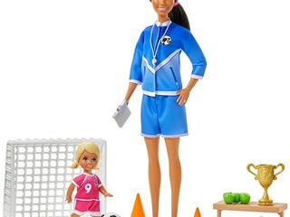 Mattel Soccer Coach Barbie Playset