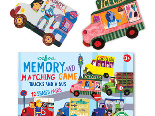 eeBoo Trucks and a Bus Matching Game