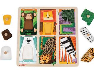 Janod Tactile Peg Zoo Animal Puzzle