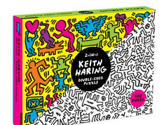 Mudpuppy 500 Piece Keith Haring Double Sided Puzzle