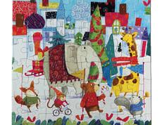 eeBoo Holiday Parade 64-Piece Puzzle