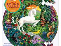 eeBoo Unicorn Garden 500 Piece Round Puzzle