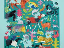 Rainforest Animals 500 piece family puzzle