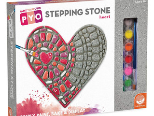 MindWare Paint Your Own Stepping Stone Heart