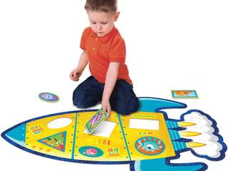 Peaceable Kingdom Shimmery Rocket Floor Puzzle
